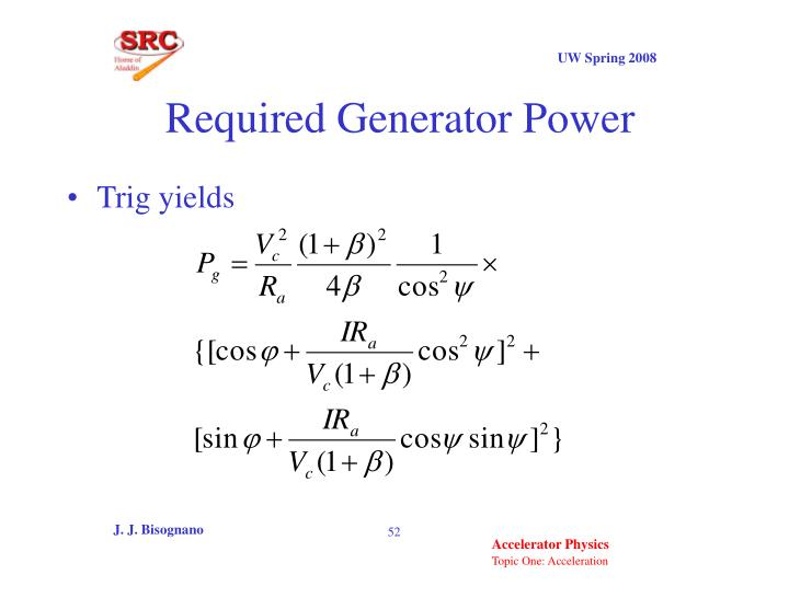 Required Generator Power