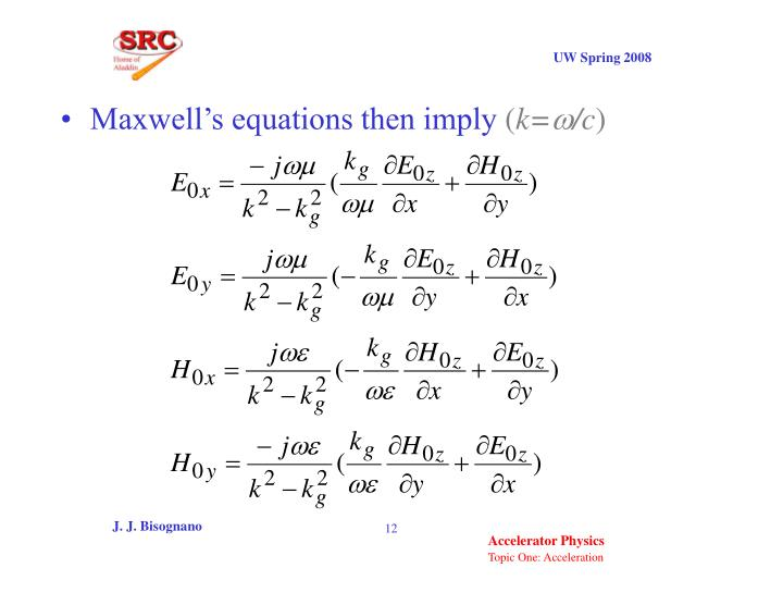 Maxwell's equations then imply