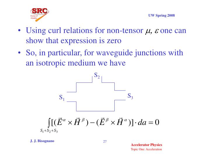 Using curl relations for non-tensor
