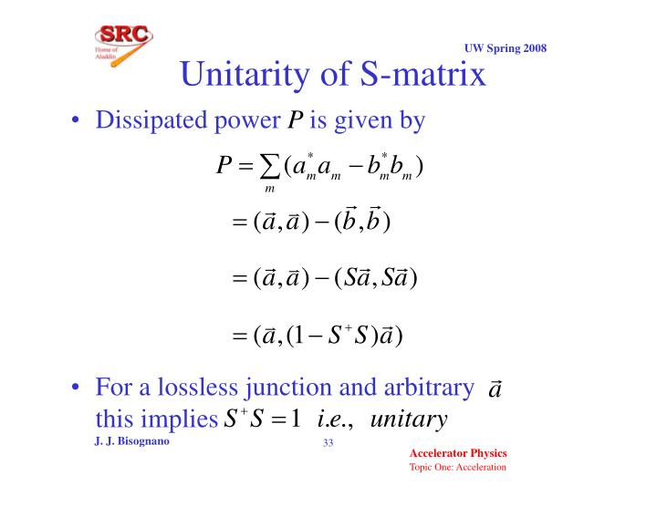 Unitarity of S-matrix