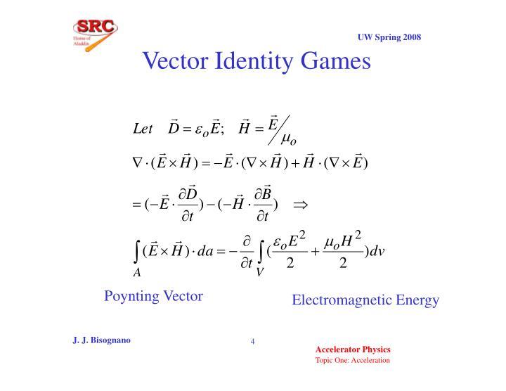 Vector Identity Games