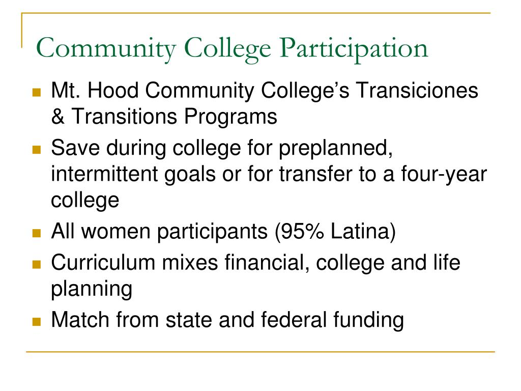 Community College Participation