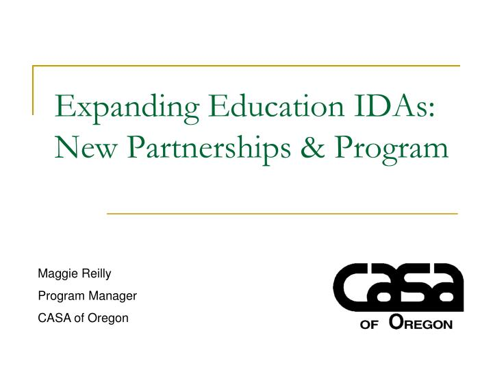 Expanding education idas new partnerships program