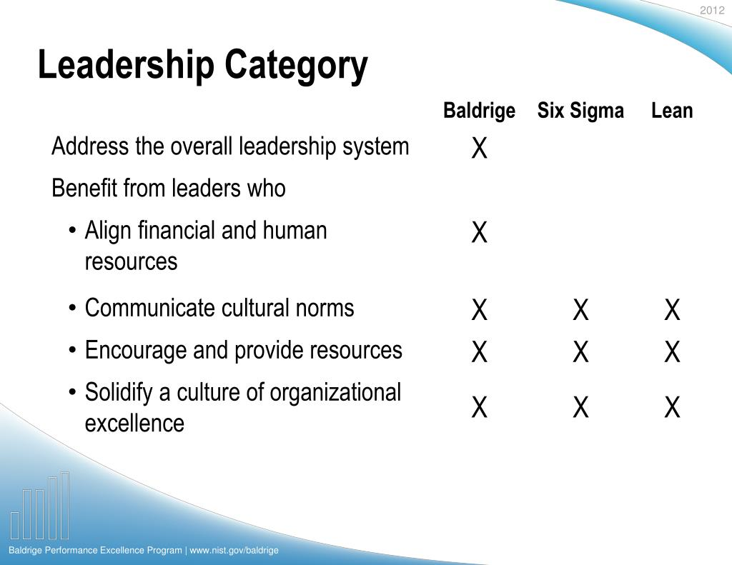Leadership Category