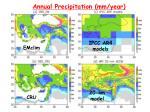annual precipitation mm year
