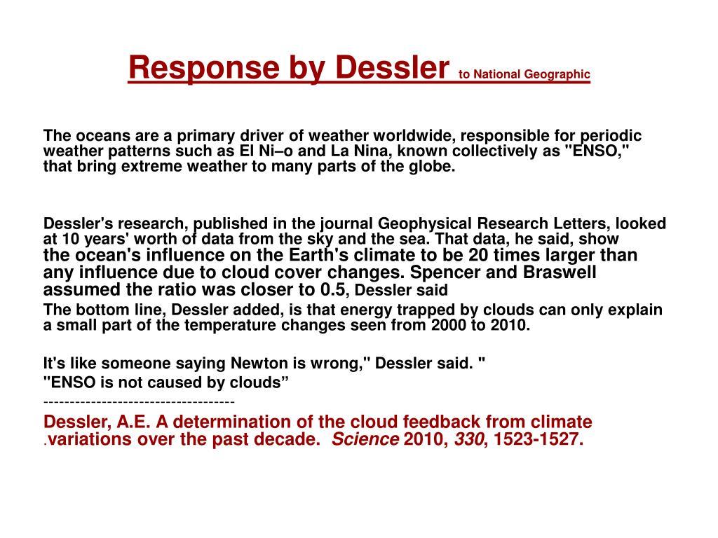 Response by Dessler