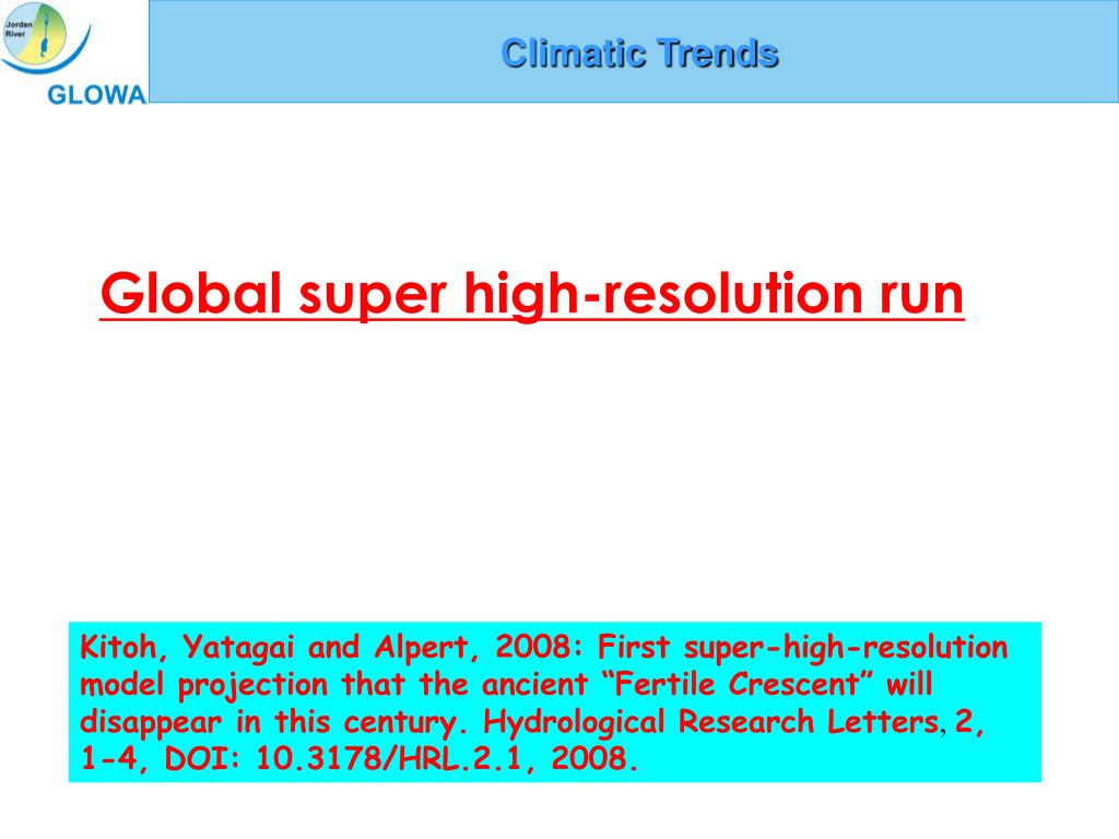 Climatic Trends