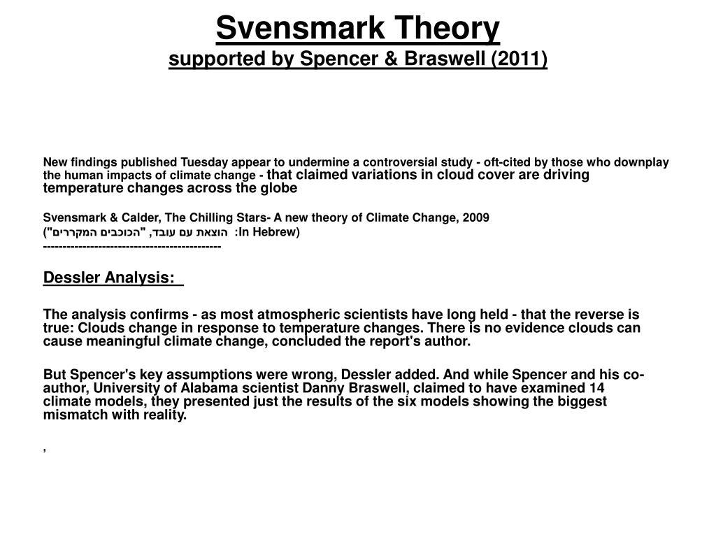 Svensmark Theory