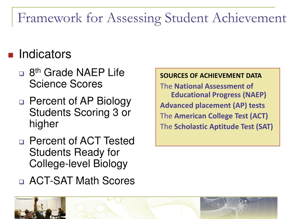 Framework for Assessing Student Achievement