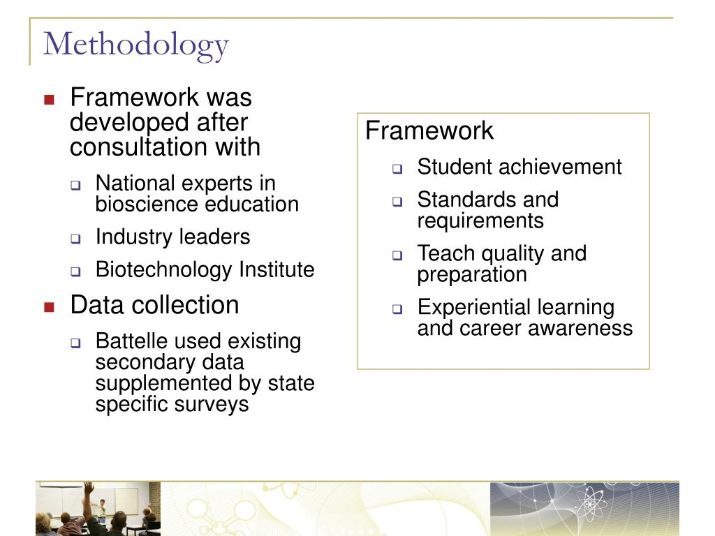 Framework was developed after consultation with