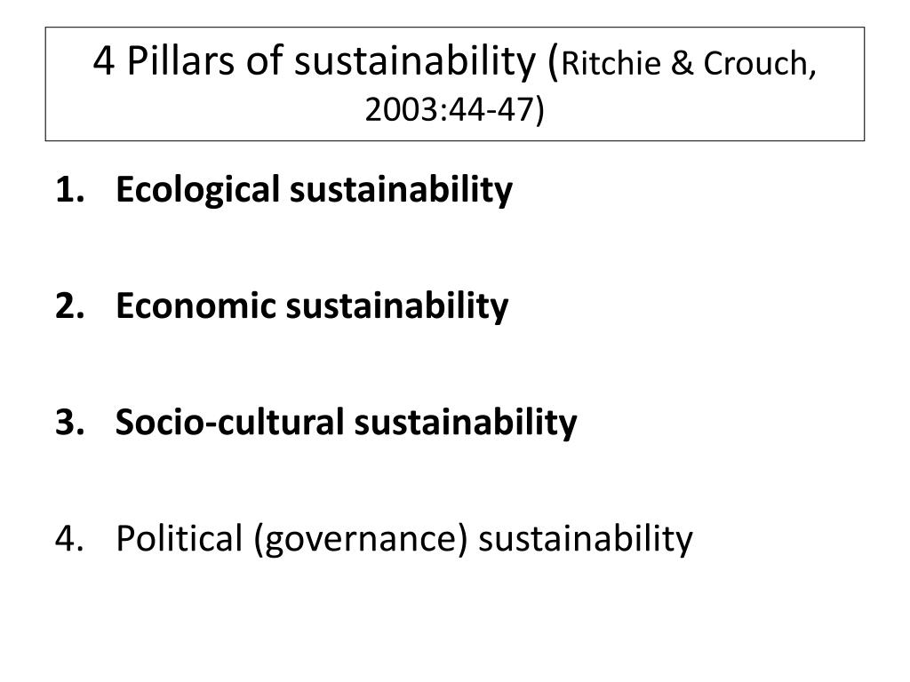 4 Pillars of sustainability (
