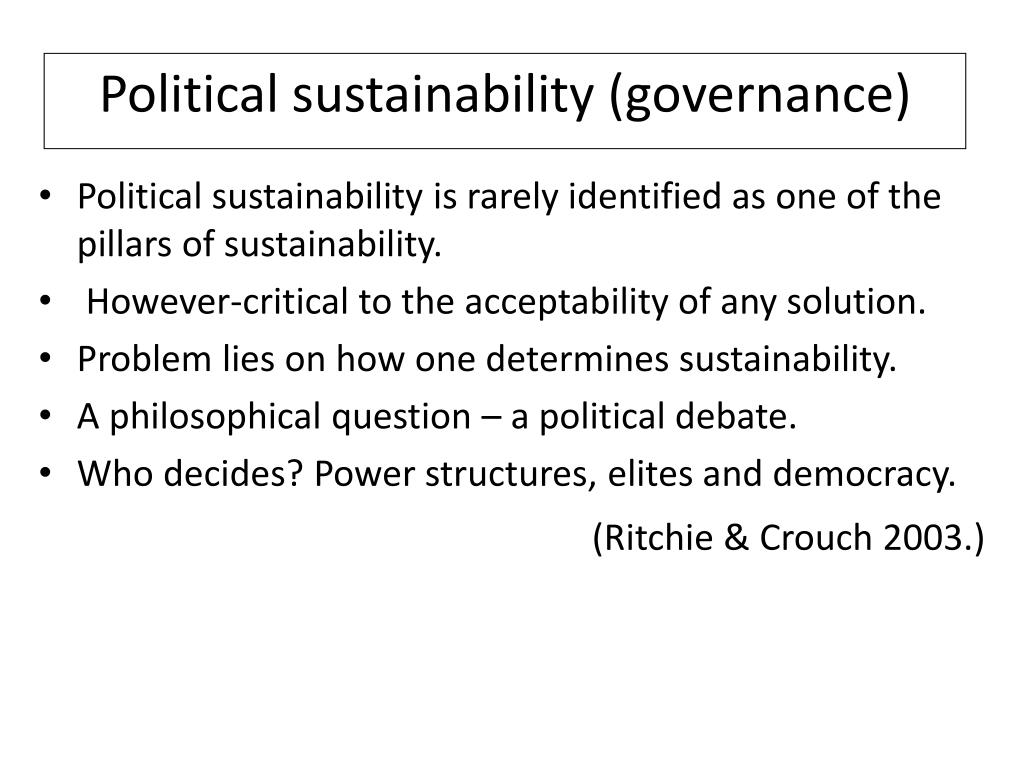 Political sustainability (governance)