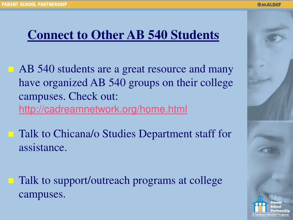 Connect to Other AB 540 Students