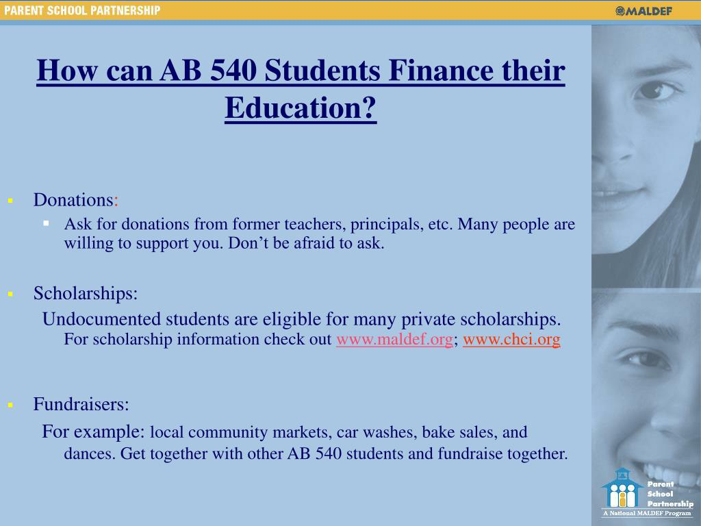 How can AB 540 Students Finance their Education?