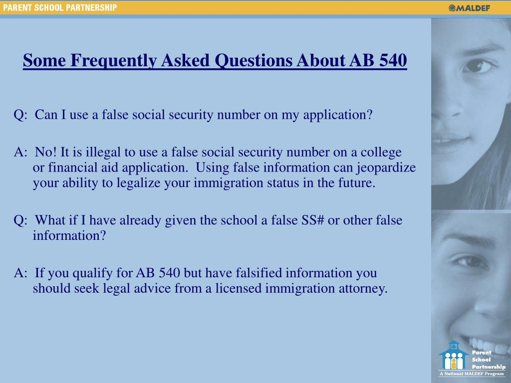 Some Frequently Asked Questions About AB 540