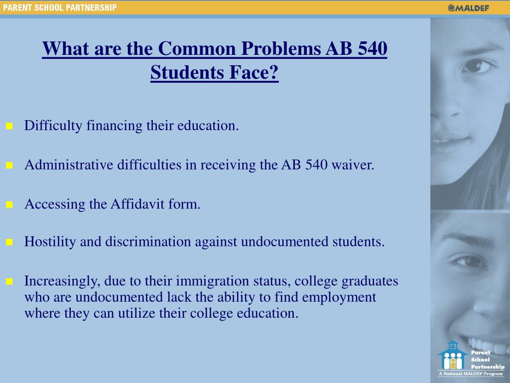 What are the Common Problems AB 540 Students Face?