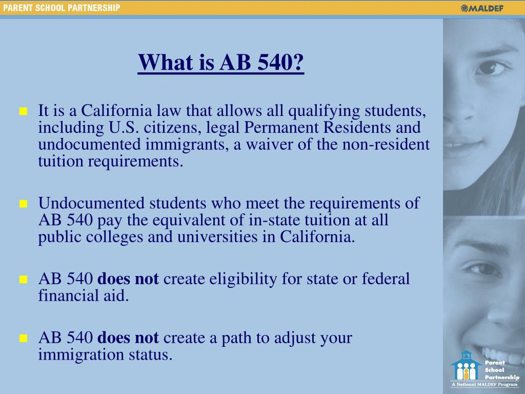 What is AB 540?