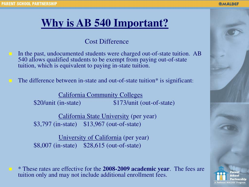 Why is AB 540 Important?