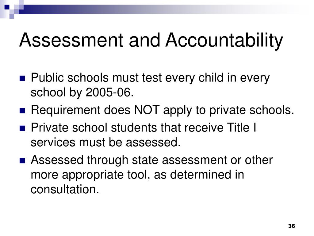 Assessment and Accountability