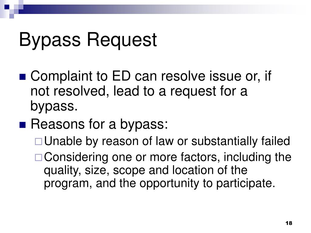 Bypass Request