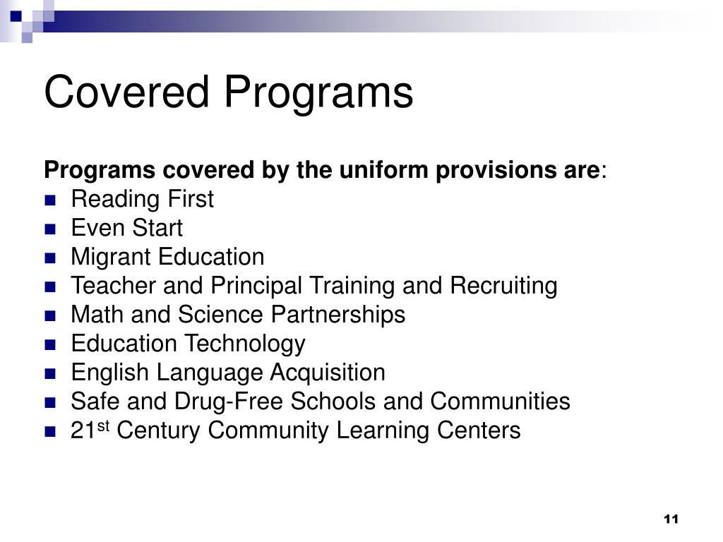 Covered Programs