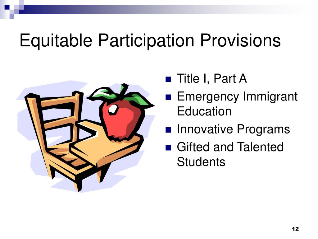 Equitable Participation Provisions