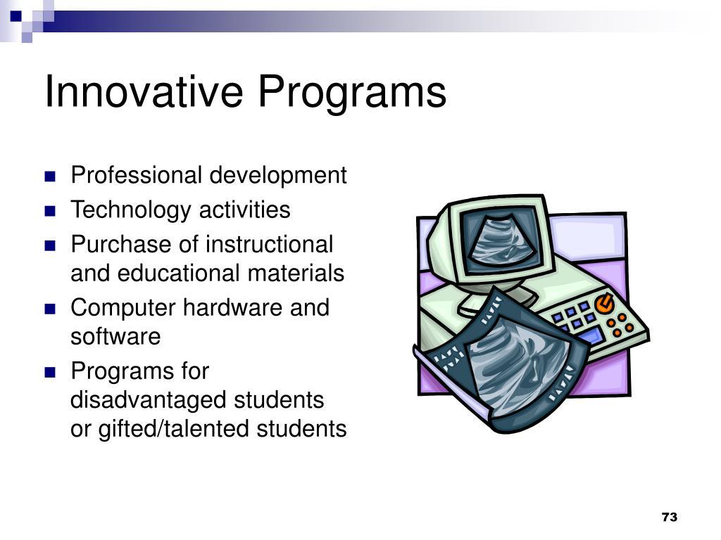 Innovative Programs