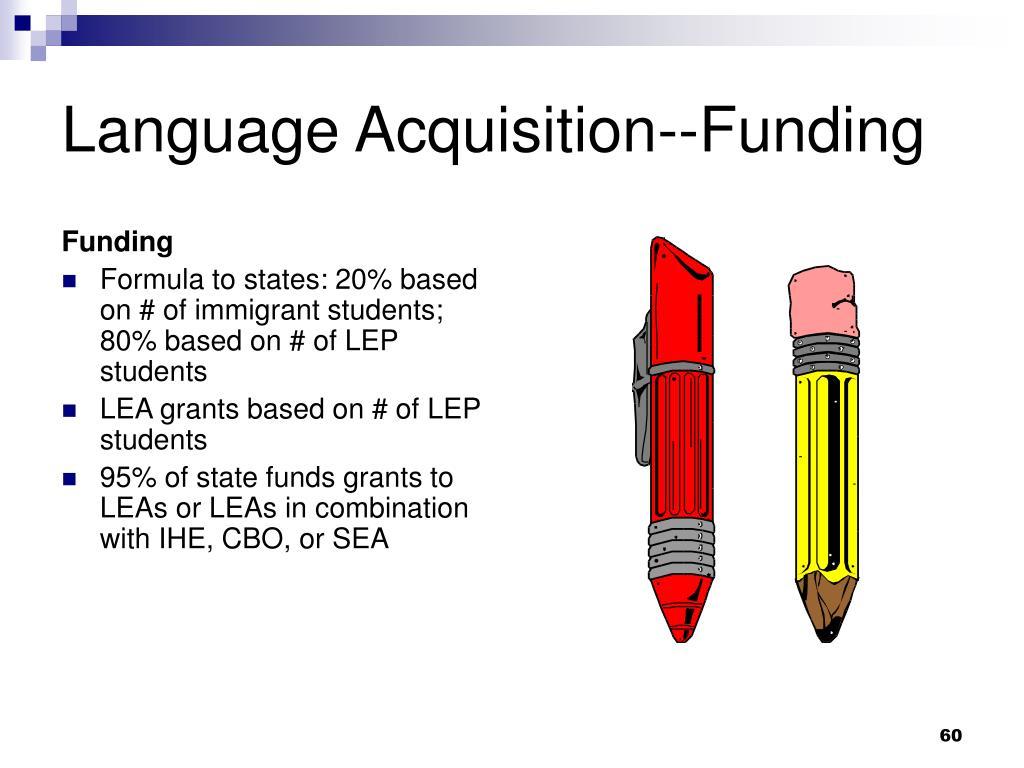 Language Acquisition--Funding
