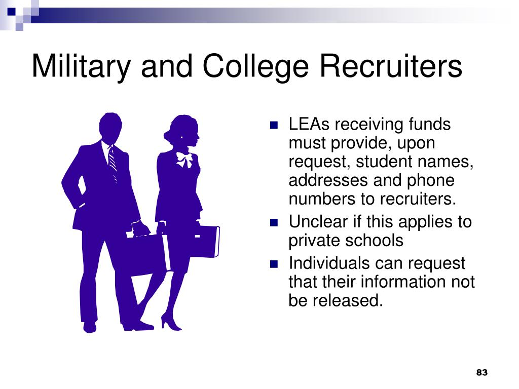 Military and College Recruiters