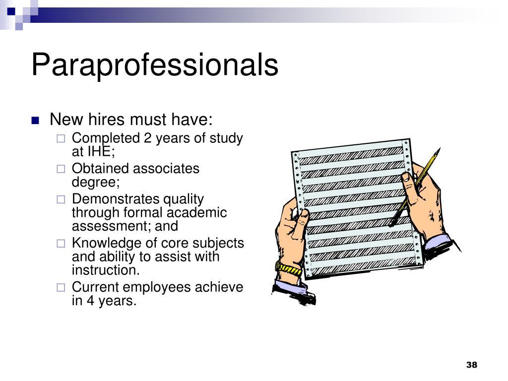 Paraprofessionals