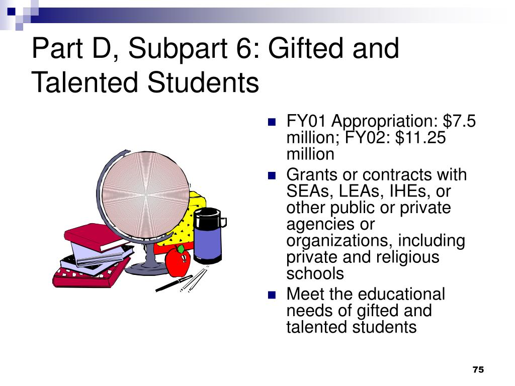 Part D, Subpart 6: Gifted and Talented Students