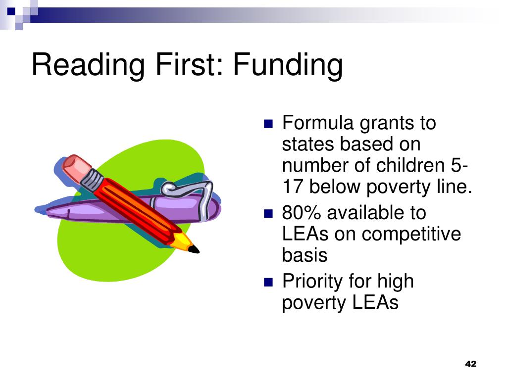 Reading First: Funding