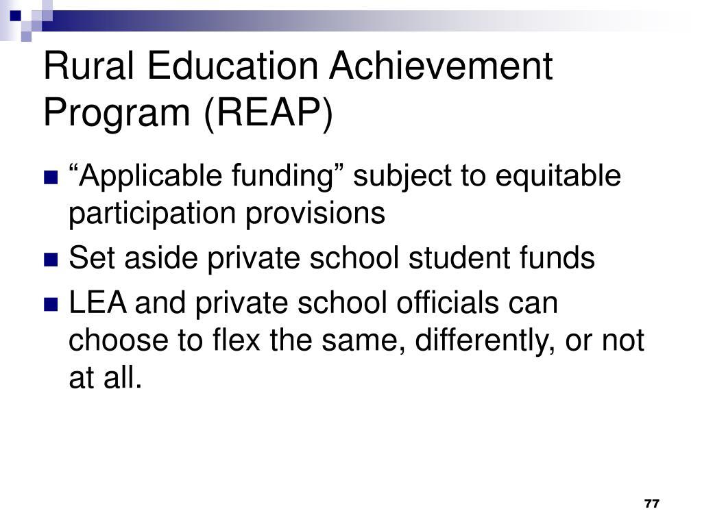 Rural Education Achievement Program (REAP)