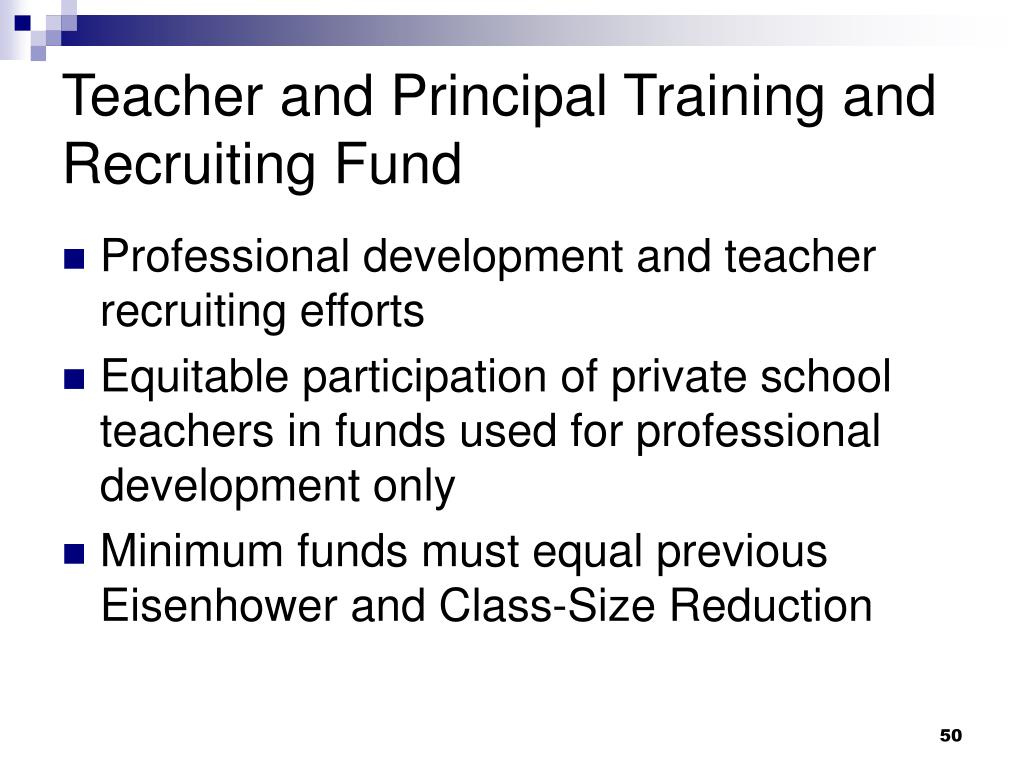 Teacher and Principal Training and Recruiting Fund