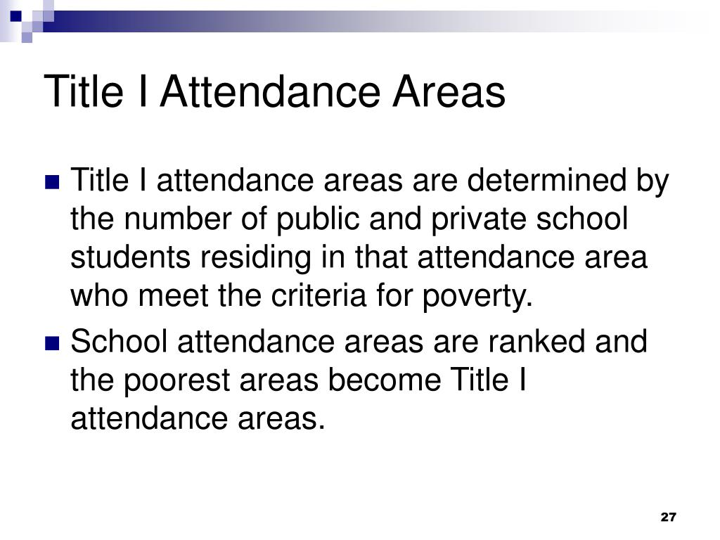 Title I Attendance Areas