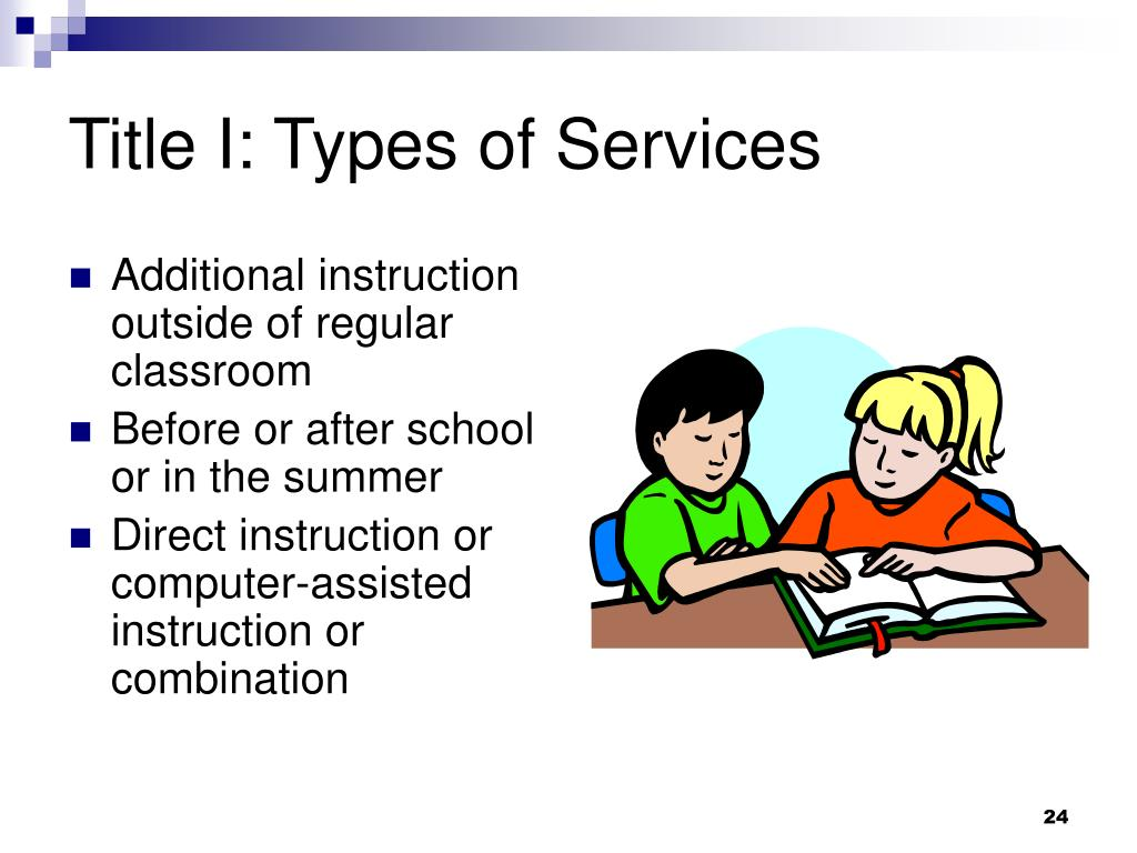 Title I: Types of Services