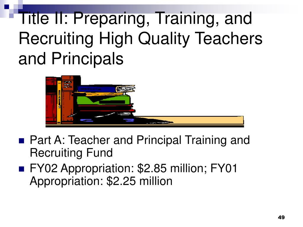 Title II: Preparing, Training, and Recruiting High Quality Teachers and Principals