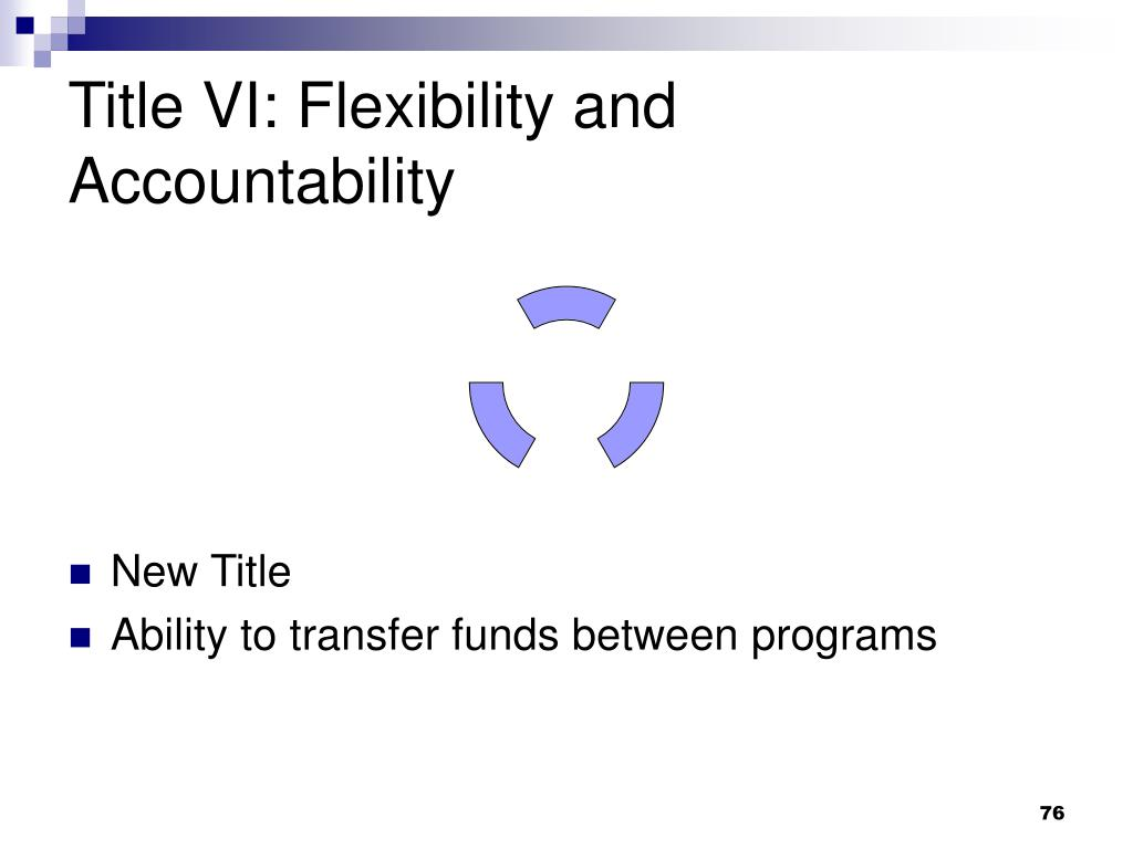 Title VI: Flexibility and Accountability