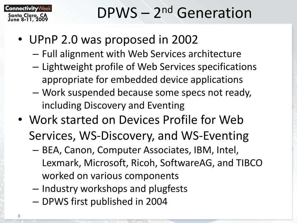 DPWS – 2