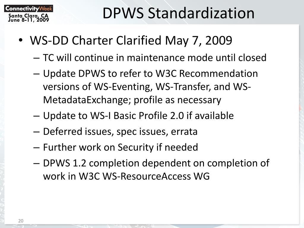 DPWS Standardization
