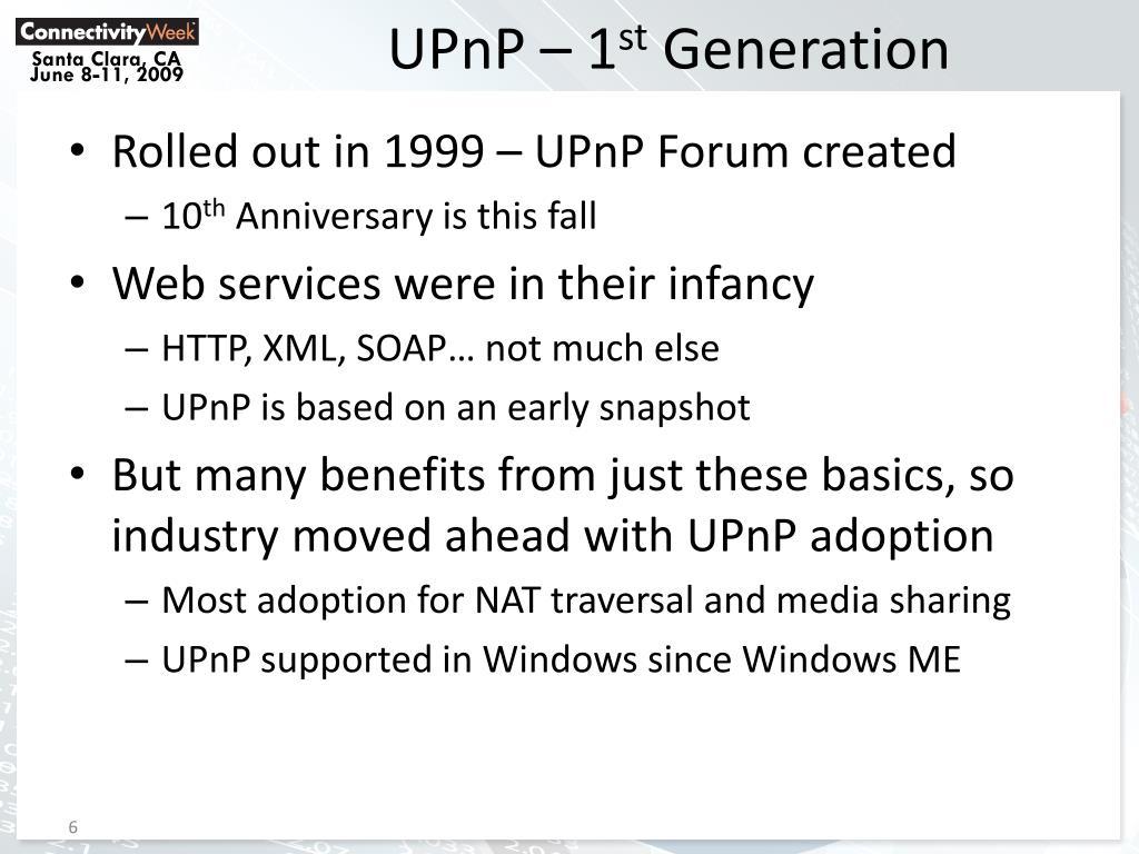 UPnP – 1
