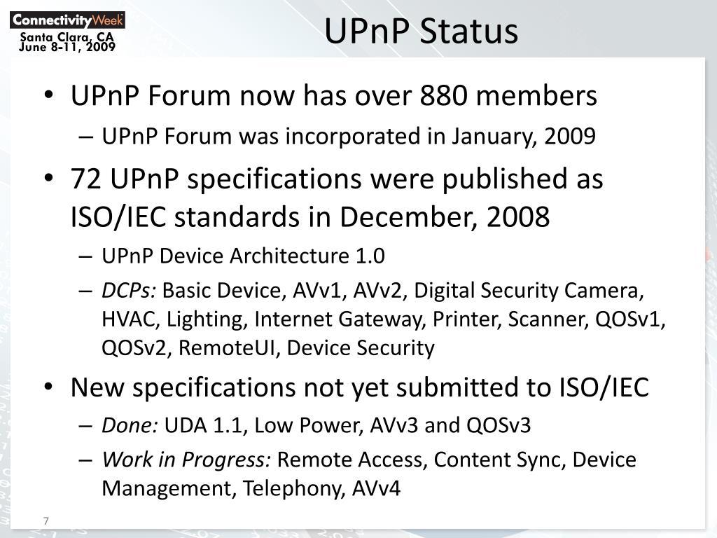 UPnP Status