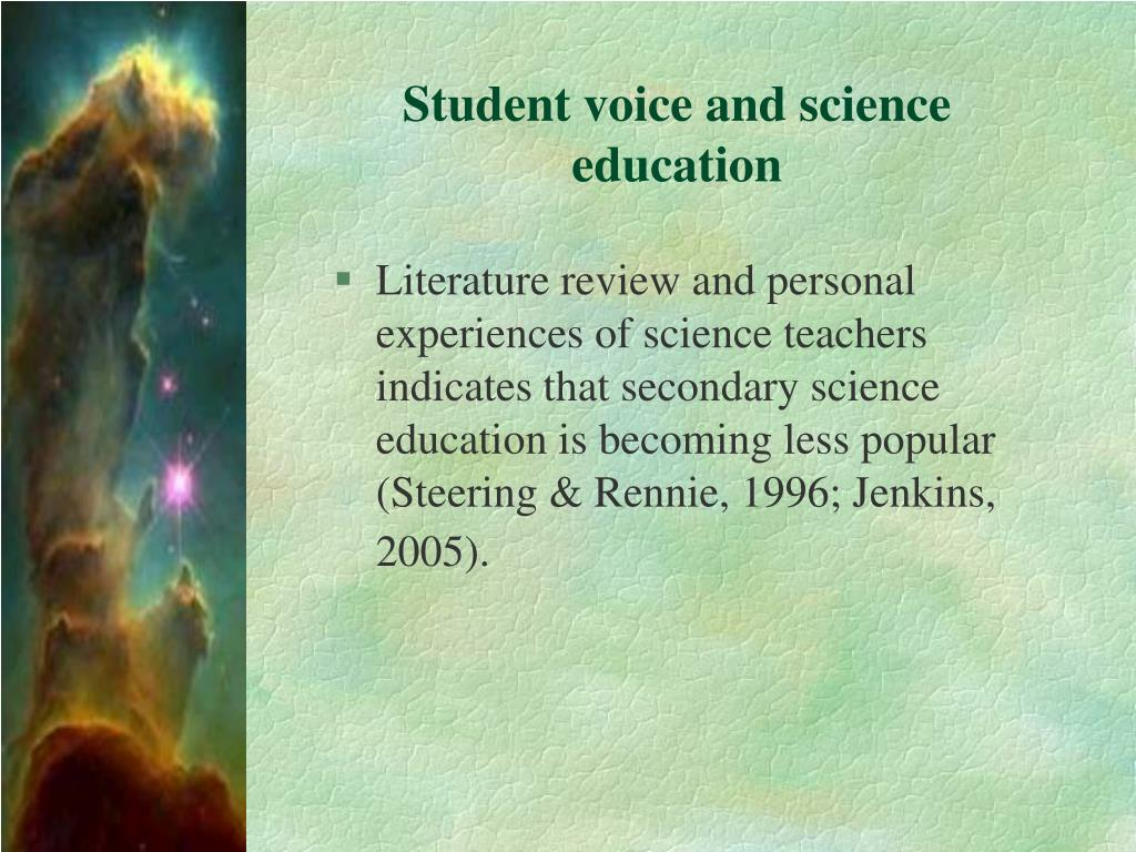 Student voice and science education