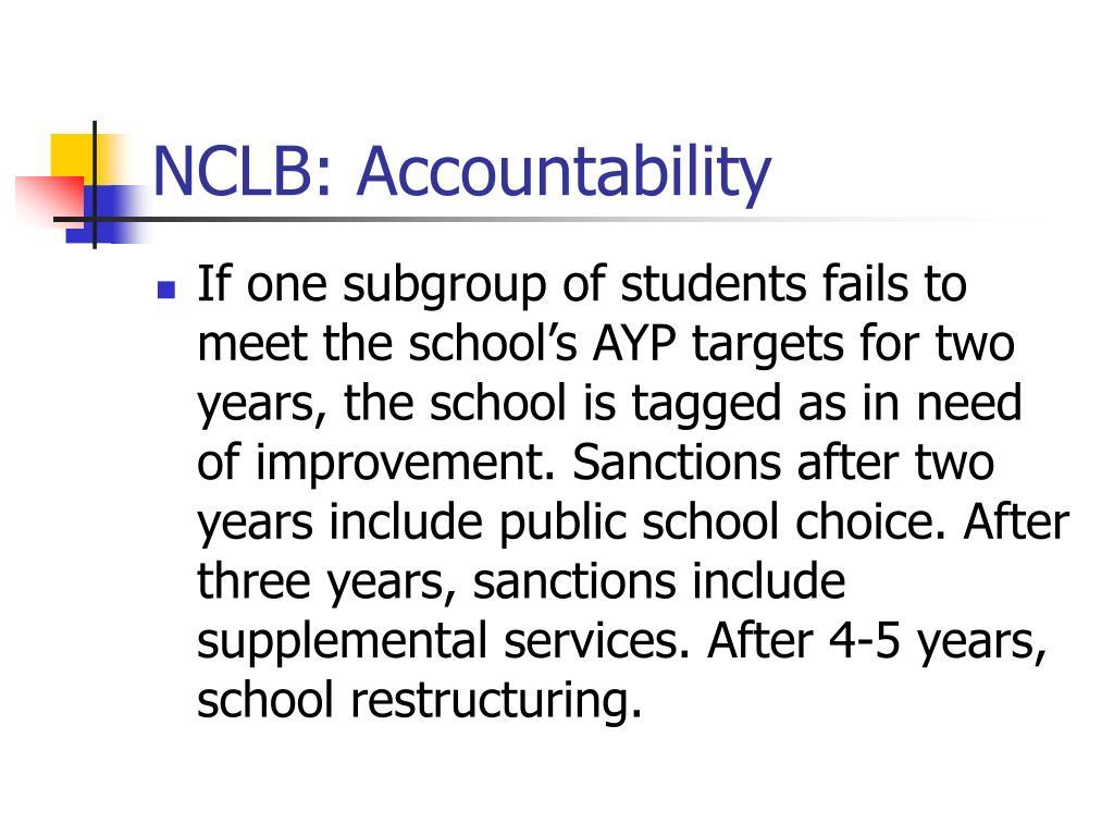 NCLB: Accountability