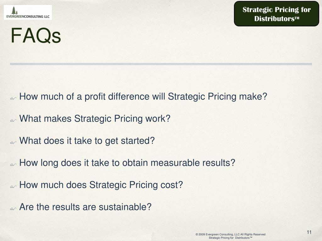 Strategic Pricing for Distributors