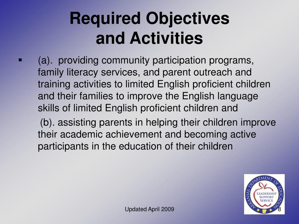 Required Objectives