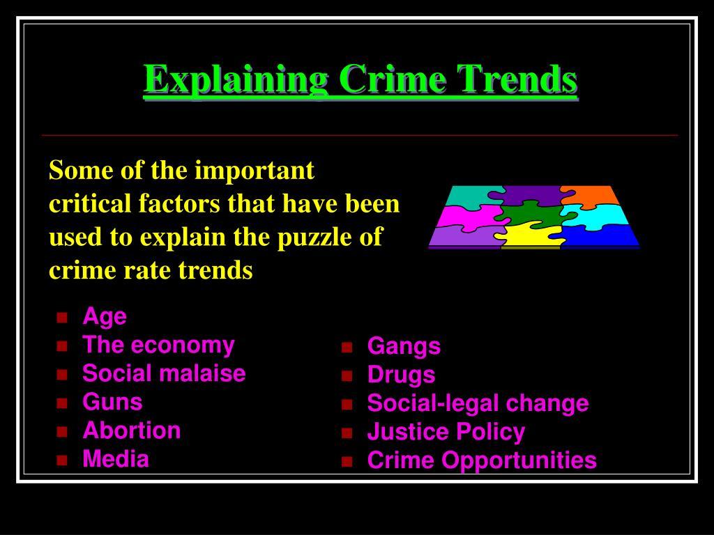 crime trends Brookings | may 2011 1 metropolitan opportunity series city and suburban crime trends in metropolitan america.