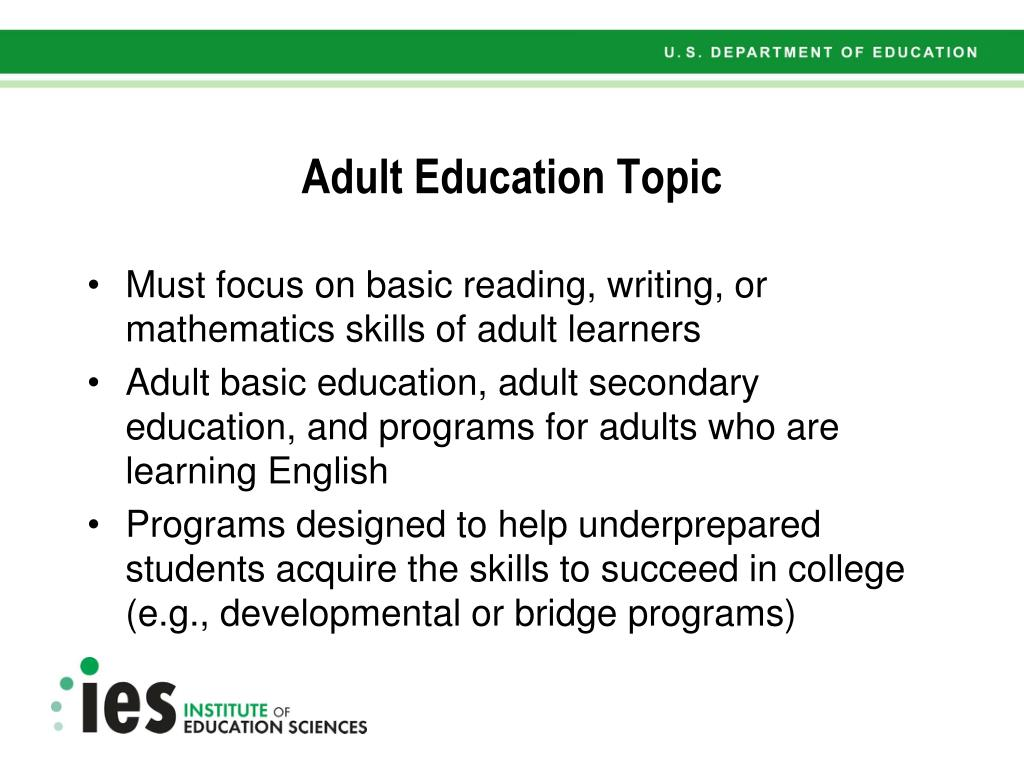 Adult Education Topic