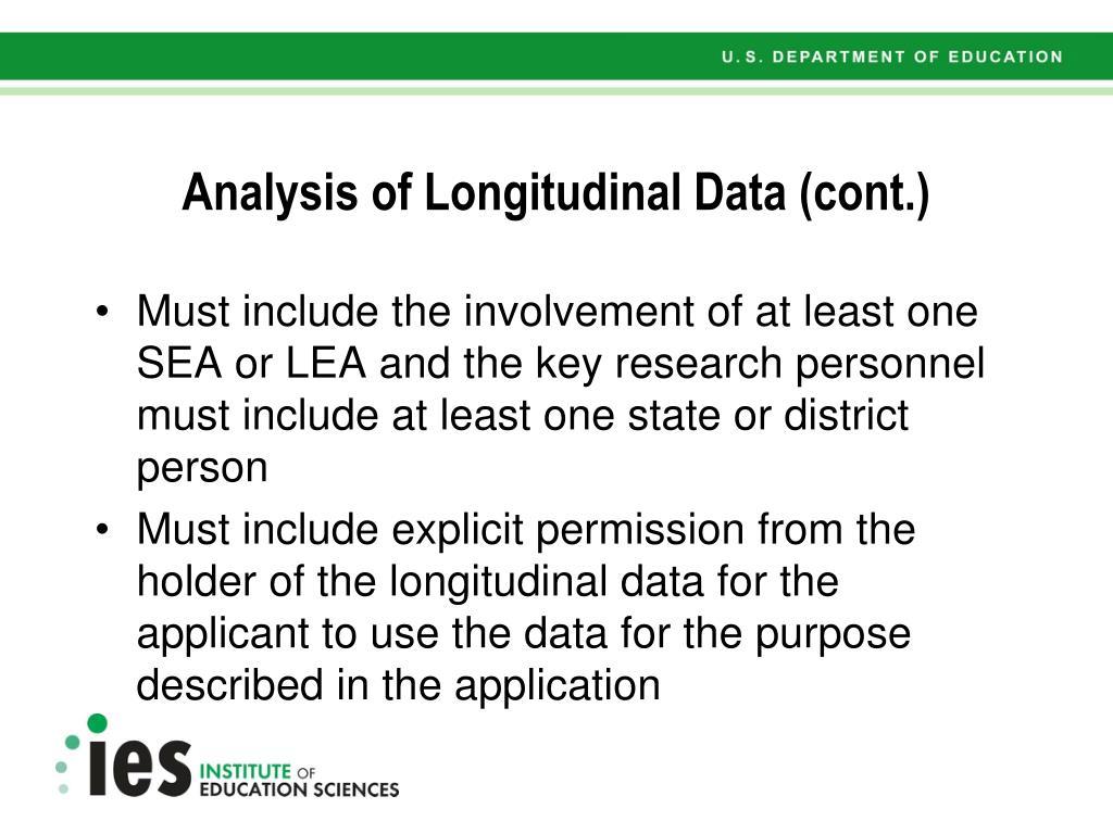 Analysis of Longitudinal Data (cont.)