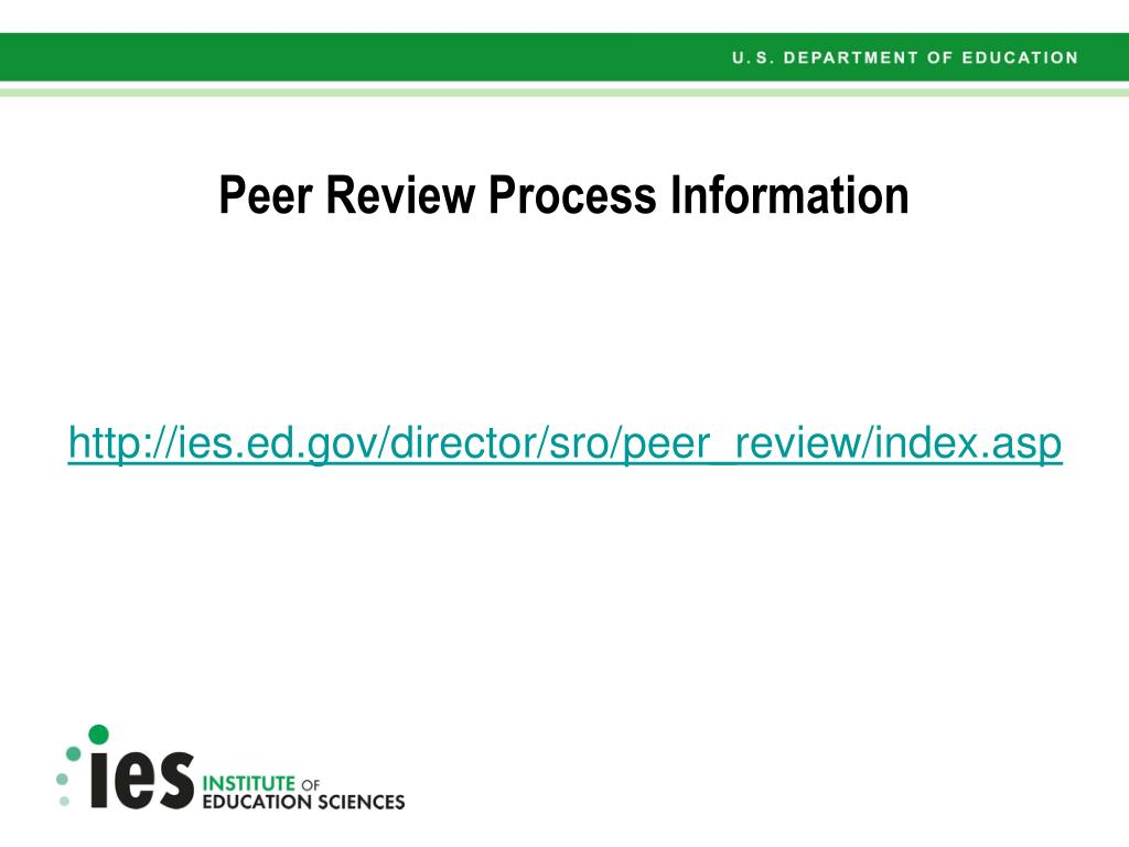 Peer Review Process Information